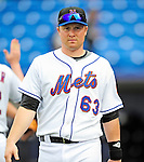 2 March 2010: New York Mets' third baseman Shawn Bowman returns to the dugout after a game against the Atlanta Braves during the Opening Day of Grapefruit League play at Tradition Field in Port St. Lucie, Florida. The Mets defeated the Braves 4-2 in Spring Training action. Mandatory Credit: Ed Wolfstein Photo