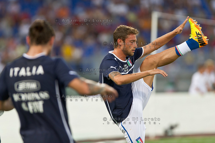 Argentina beats Italy 2-1 during the international friendly between Italy vs Argentina at Stadio Olimpico, in Rome, on August 14, 2013 in Rome. In the photo: Claudio Marchisio italy. Photo: Adamo Di Loreto/BuenaVista*photo