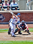 25 July 2012: New York Mets second baseman Daniel Murphy in action against the Washington Nationals at Citi Field in Flushing, NY. The Nationals defeated the Mets 5-2 to sweep their 3-game series. Mandatory Credit: Ed Wolfstein Photo