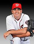 25 February 2011: Washington Nationals' pitcher John Lannan poses for his Photo Day portrait at Space Coast Stadium in Viera, Florida. Mandatory Credit: Ed Wolfstein Photo