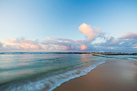 Gentle morning breezes and surf at Poi'pu Beach Park, southern Kaua'i.