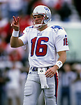 UNDATED:  Scott Zolak of the New England Patriots looks on during an NFL game.  Zolak played in the NFL from 1991-1999.  (Photo by Ron Vesely)