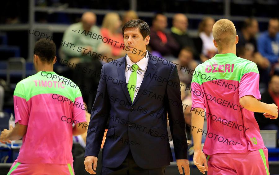 Kosarka ABA League season 2015-2016<br /> Crvena Zvezda v Mega Leks<br /> Veselin Petrovic (C)<br /> Beograd, 01.10.2015.<br /> foto: Srdjan Stevanovic/Starsportphoto&copy;