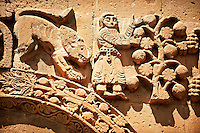 Bas Releif sculptures with scenes from the Bible on the outside of the 10th century Armenian Orthodox Cathedral of the Holy Cross on Akdamar Island, Lake Van Turkey 38