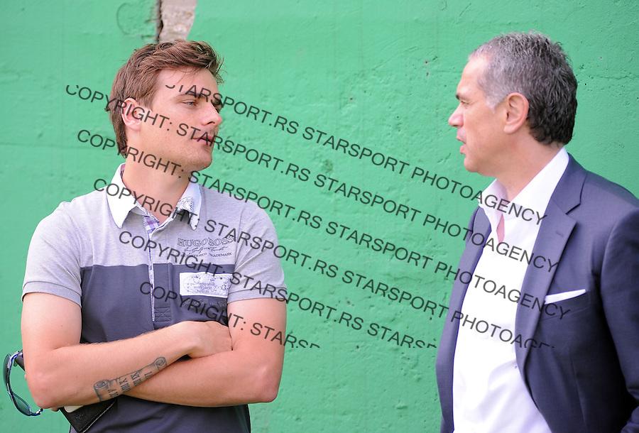Fudbal Soccer<br /> FK Crvena Zvezda-Pripreme za sezonu 2014-2015<br /> Zvezdan Terzic (R) and Nejc Pecnik<br /> Beograd, 06.27.2014.<br /> foto: Srdjan Stevanovic/Starsportphoto&copy;