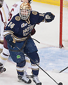 Thomas DiPauli (ND - 14) - The visiting University of Notre Dame Fighting Irish defeated the Boston College Eagles 7-2 on Friday, March 14, 2014, in the first game of their Hockey East quarterfinals matchup at Kelley Rink in Conte Forum in Chestnut Hill, Massachusetts.