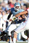 24 November 2012: UNC's Darien Rankin (27). The University of North Carolina Tar Heels played the University of Maryland Terrapins at Kenan Memorial Stadium in Chapel Hill, North Carolina in a 2012 NCAA Division I Football game. UNC won 45-38.