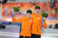 OLYMPICS: SOCHI: Adler Arena, 13-02-2014, 1000m Ladies, podium, Ireen Wüst (NED), Margot Boer (NED), ©foto Martin de Jong