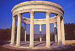 Turn of the century style temple in Untermyer Park in the fall In Westchester County in Upstate New York