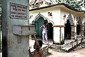 Villagers are seen at the local temple which also acts as a campaign office in village Dhinkia in Orissa, India. The local population of small villagers along the proposed Posco site have started a campaign and do not want to give away their land for the proposed Posco factory.