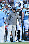 30 November 2013: UNC head coach Larry Fedora. The University of North Carolina Tar Heels played the Duke University Blue Devils at Keenan Memorial Stadium in Chapel Hill, NC in a 2013 NCAA Division I Football game. Duke won the game 27-25.