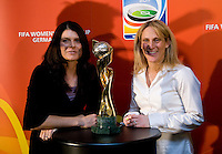 Mia Hamm, Kristine Lilly. Various speakers took the stage at the FIFA Women's World Cup 2011 promotional tour at the Westin Grand in Washington, DC...