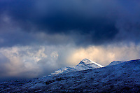 Stormy Weather and irish winter landscape over Kerry highlands, Ireland / ba05