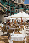 Cafe Tables, Plaza Mayor Square, Chinchon, Spain
