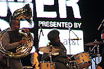 Damon &quot;Tuba Gooding Jr.&quot; Brysonand ?uestlove of The Roots Perform City Parks Foundation proudly presents SUMMERSTAGE  Gala SummerStage Presented by AT&amp;T &ldquo;The Music of Jimi Hendrix&rdquo; <br /> An Evening Celebrating the Musical Genius of the Legendary Guitarist, June 5, 2012 Produced by Michael Dorf Presents and City Winery