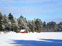 Adirondack Watercolor - Winter