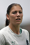 20 June 2009: Hope Solo (1) of Saint Louis Athletica.  Saint Louis Athletica were defeated by the visiting Washington Freedom  0-1 in a regular season Women's Professional Soccer game at AB Soccer Park, in Fenton, MO.