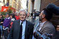 Roma  23 Aprile 2013.Si riunusce  la direzione nazionale del Partito Democratico. Luciano Violante