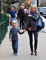 Naomi Watts and her son, Alexander Schreiber, in New York City