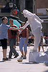 Mime greeting a tourist in Venice