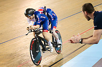 Picture by Alex Whitehead/SWpix.com - 04/03/2017 - Cycling - UCI Para-cycling Track World Championships - Velo Sports Center, Los Angeles, USA - Great Britain's Sophie Thornhill (piloted by Corrine Hall) win Gold in the Women's B 1km Time Trial final.