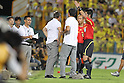 Dragan Stojkovic (Grampus),..SEPTEMBER 10, 2011 - Football / Soccer :..Nagoya Grampus head coach Dragan Stojkovic (C) is sent off by referee Yudai Yamamoto (R) during the 2011 J.League Division 1 match between Kashiwa Reysol 2-1 Nagoya Grampus Eight at Hitachi Kashiwa Soccer Stadium in Chiba, Japan. (Photo by Kenzaburo Matsuoka/AFLO)