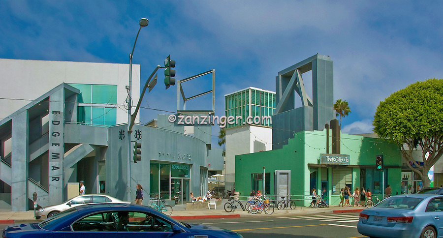 Edgemar Center for the Arts, Santa Monica, CA, designed by Frank Gehry, Panorama