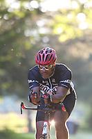 Ali Burke cycling thru Sugar Hallow located in Whitehall, Va. Photo/Andrew Shurtleff