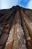 Basalt columns called The Organ Pipes at Giant's Causeway, County Antrim, Northern Ireland, United Kingdon