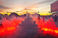 Judy Chicago's  25 tons  dry ice sculptures  featured during the opening of the Art Los Angeles Contemporary Art Fair at Barker Hanger on Thursday, January 19, 2012. The show runs through January 22.