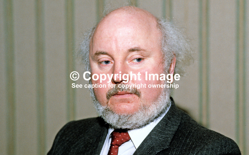 Paddy O'Hanlon, founder member, SDLP, Social Democratic &amp; Labour Party, N Ireland, UK, 19840011POH.<br />