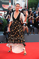 Alicia Vikander attend the premiere of 'The Light Between Oceans' during the 73rd Venice Film Festival at Sala Grande on September 1, 2016 in Venice, Italy.<br /> CAP/GOL<br /> &copy;GOL/Capital Pictures /MediaPunch ***NORTH AND SOUTH AMERICAS ONLY***