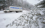 NORFOLK,  CT-122916JS10--While most of the state received only rain from Thursday's storm, part Norfolk saw heavy snowfall and accumulation. Drivers traveling along Route 44 in Norfolk drove slow and cautiously. <br /> Jim Shannon Republican-American