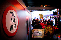 Immigrants Protest during the International Migrants Day‎ as they receive support by Occupy Wall Street members in New York, United States. 18/12/2011.  Photo by Eduardo Munoz Alvarez / VIEWpress.