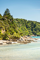 Picturesque coastline near Takaka in Golden Bay, Nelson Region, South Island, New Zealand