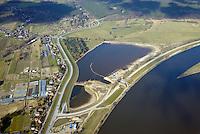 Borghorster Elbwiesen Deichrueckverlegung: EUROPA, DEUTSCHLAND, HAMBURG 15.03.2016: Die Borghorster Elbwiesen in Hamburg-Altengamme und Geesthacht sind mit einer Flaeche von 69 Hektar Teil des Naturschutzgebietes Borghorster Elblandschaft . Ein 1968 errichteter Leitdamm trennt die Wiesen vom Strom der Elbe. Mit der geplanten Kohaerenzmaßnahme wird der Deich wieder geoeffnet und die Landschaft dem Tideeinfluss ausgesetzt.