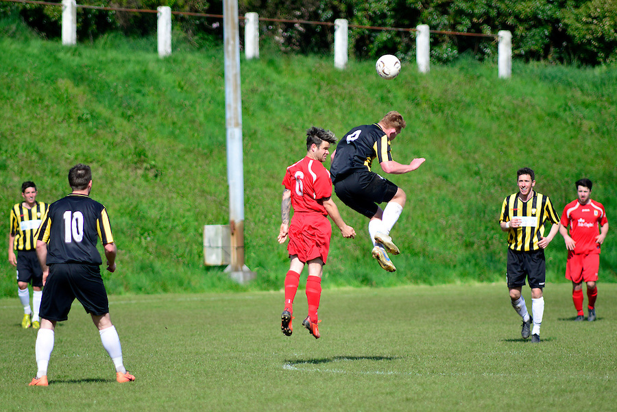 Action from Falmouth Town's 2-1 defeat against Bovey Tracey