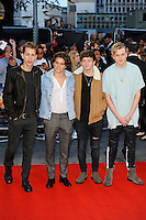 LONDON, ENGLAND - SEPTEMBER 26: Brad Simpson, James McVey, Connor Ball and Tristan Evans of 'The Vamps' attending the 'Deepwater Horizon' European Premiere at Cineworld, Leicester Square on September 26, 2016 in London, England.<br /> CAP/MAR<br /> &copy;MAR/Capital Pictures /MediaPunch ***NORTH AND SOUTH AMERICAS ONLY***