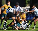 No way through for Swilala Lam. Australia U20 V Fiji U20. IRB Junior Rugby World Cup 2008© Ian Cook IJC Photography iancook@ijcphotography.co.uk www.ijcphotography.co.uk.
