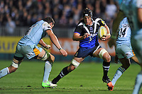 Ben Skirving in possession. Aviva Premiership match, between Bath Rugby and Northampton Saints on September 14, 2012 at the Recreation Ground in Bath, England. Photo by: Patrick Khachfe / Onside Images