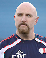 The New England Revolution goalkeeper's coach, Remi Roy.  The New England Revolution drew FC Dallas 1-1, at Gillette Stadium on May 1, 2010