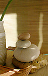 Stones in a zen spa setting.