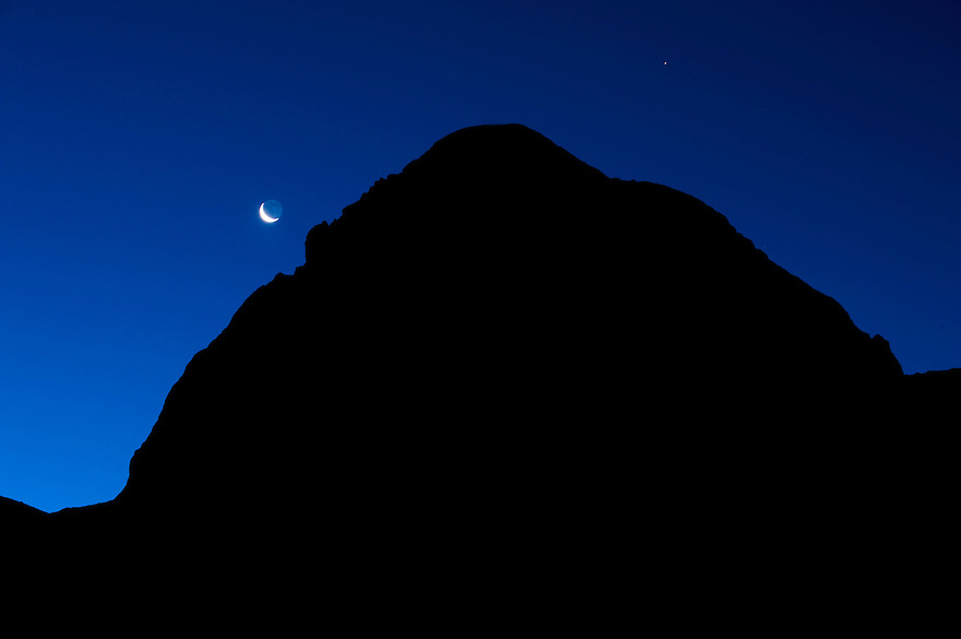 Mount Mangart at dawn<br /> Triglav National Park, Slovenia<br /> July 2009