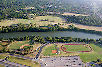 Stephen F Austin High School and Hike and Bike Trail on Lady Bird Lake.