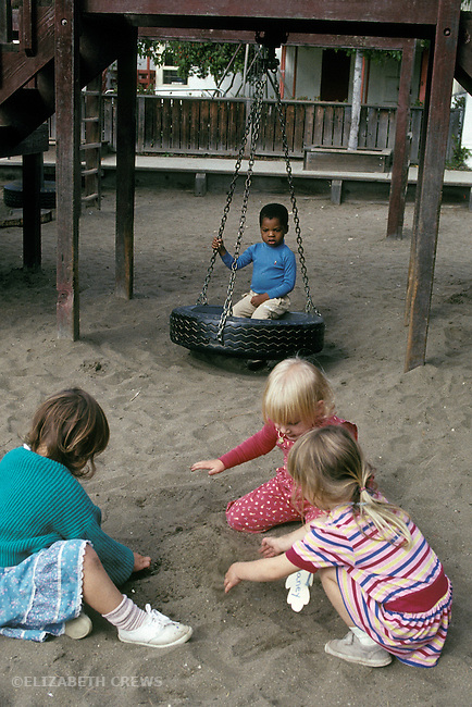 Albany CA Cooperative play and onlooker play among children age three and four at preschool