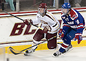 Patch Alber (BC - 3), A.J. White (UML - 18) - The Boston College Eagles defeated the visiting University of Massachusetts Lowell River Hawks 6-3 on Sunday, October 28, 2012, at Kelley Rink in Conte Forum in Chestnut Hill, Massachusetts.