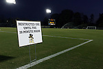 11 November 2015: Spry Stadium before the teams arrive for the game. The Wake Forest University Demon Deacons hosted the University of Notre Dame Fighting Irish at Spry Stadium in Winston-Salem, North Carolina an Atlantic Coast Conference Tournament Semifinal game and a 2015 NCAA Division I Men's Soccer match. Notre Dame won the game 1-0 and advanced to the ACC Championship final.