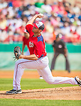 9 March 2013: Washington Nationals pitcher Chris Young on the mound during a Spring Training game against the Miami Marlins at Space Coast Stadium in Viera, Florida. The Nationals edged out the Marlins 8-7 in Grapefruit League play. Mandatory Credit: Ed Wolfstein Photo *** RAW (NEF) Image File Available ***