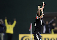 WASHINGTON, DC - OCTOBER 20, 2012:  Lewis Neal (24) of D.C United after scoring the winning goal the Columbus Crew during an MLS match at RFK Stadium in Washington D.C. on October 20. D.C United won 3-2.