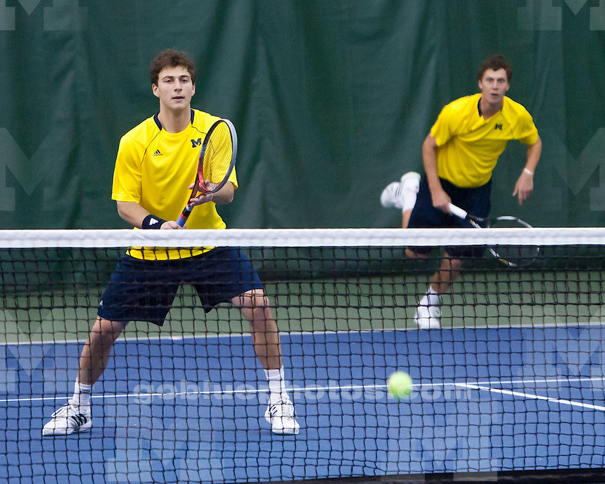 The University of Michigan men's tennis team lost to Minnesota, 4-3, at the Varsity Tennis Center in Ann Arbor, Mich., on March 24, 2013.